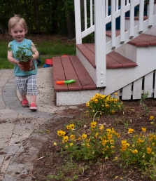 Allowing kids to plant something engages them in a lifelong love of garden